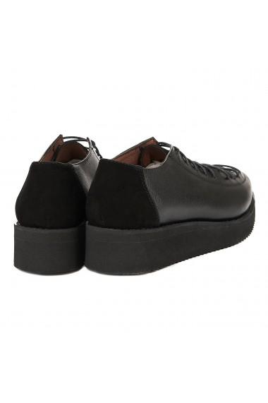 Pantofi dama casual negri piele naturala 1262
