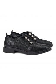 Pantofi dama casual piele naturala neagra 1369