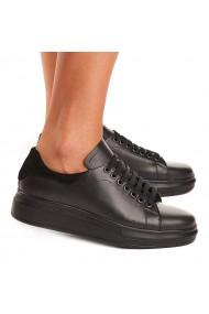 Pantofi dama casual piele naturala neagra 1541