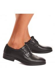 Pantofi dama casual piele naturala neagra 1542