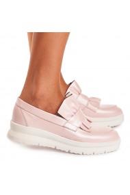 Pantofi dama casual piele naturala roz 1540