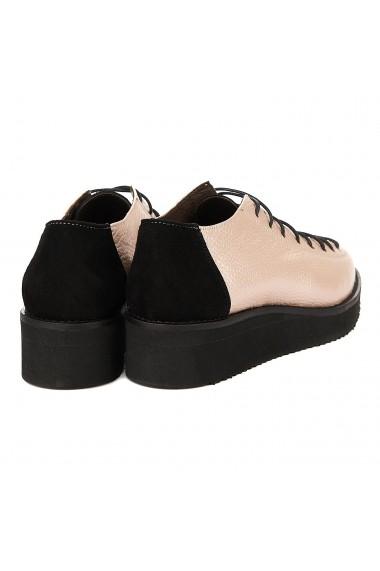 Pantofi dama casual roz piele naturala 1257
