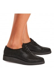 Pantofi dama din piele naturala neagra 1556