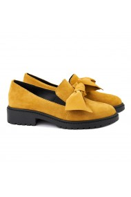 Pantofi dama piele naturala galbena 1366