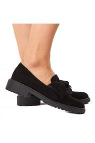 Pantofi dama piele neagra fara siret 1582