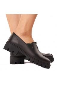 Pantofi dama piele neagra fara siret 1583