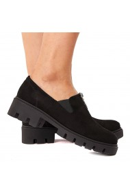 Pantofi dama piele neagra fara siret 1584