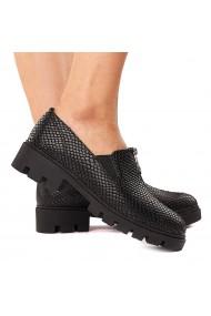 Pantofi dama piele neagra fara siret 1585