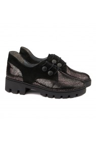 Pantofi dama piele negri cu model 1307