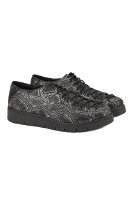 Pantofi dama piele negri cu model 1309