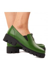 Pantofi dama piele verde fara siret 1581