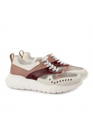 Pantofi dama sport din piele naturala bej 1394