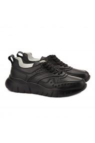 Pantofi dama sport din piele naturala neagra 1390