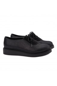 Pantofi dama sport din piele naturala neagra 1395