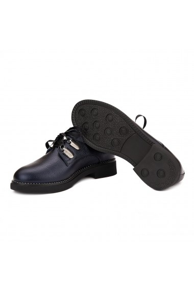 Pantofi Piele Naturala albastru sidef 1573