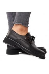 Pantofi Piele Naturala neagra 1577