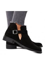 Pantofi Piele Naturala neagra 1588