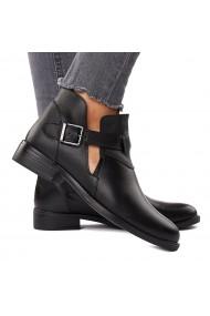 Pantofi Piele Naturala neagra 1589