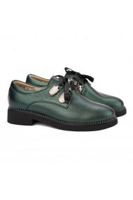 Pantofi Piele Naturala verde sidef 1574