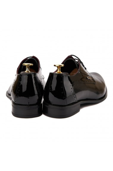 Pantofi eleganti piele naturala Negru Lac 095