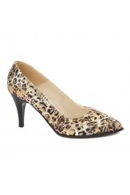 Pantofi cu toc dama din piele naturala 4399