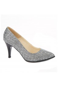 Pantofi cu toc dama din piele naturala 4401