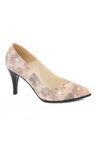 Pantofi cu toc dama din piele naturala 4402