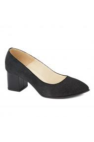 Pantofi cu toc dama din piele naturala 4403