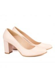 Pantofi dama din piele naturala bej 4138