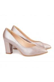 Pantofi dama din piele naturala bej sidefat 4140