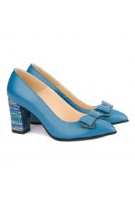 Pantofi dama din piele naturala bleu ciel 4129