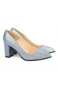 Pantofi dama din piele naturala bleu ciel 4147