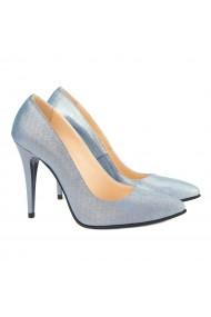 Pantofi dama din piele naturala bleu ciel 4165