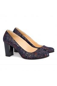 Pantofi dama din piele naturala mov 4145