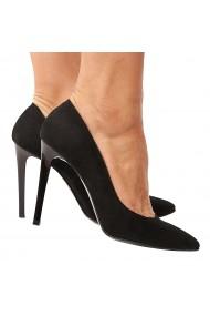 Pantofi dama din piele naturala neagra 4207