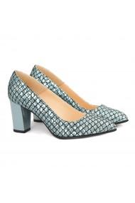 Pantofi dama din piele naturala smarald 4151