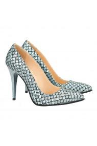 Pantofi dama din piele naturala smarald 4155