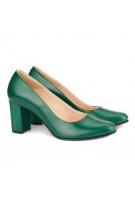 Pantofi dama din piele naturala verde 4137
