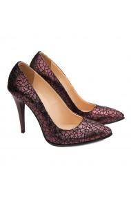 Pantofi cu toc dama eleganti din piele naturala 4081