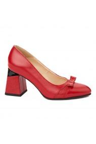 Pantofi cu toc dama eleganti din piele naturala 4318