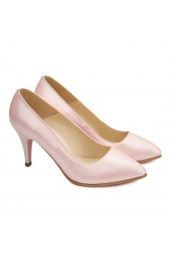 Pantofi dama eleganti din piele naturala roz 4121