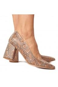 Pantofi dama model snake din piele naturala 4227