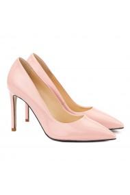 Pantofi dama stiletto eleganti din piele roz 4056