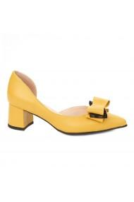 Pantofi dama toc gros din piele naturala 4332
