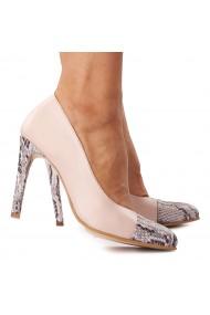 Pantofi cu toc din Piele Naturala 4311
