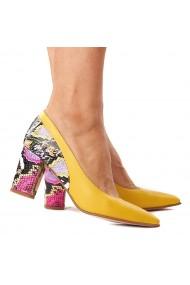 Pantofi cu toc din Piele Naturala 4315