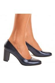 Pantofi din Piele Naturala Albastra 4036