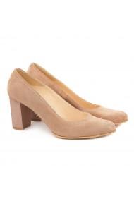 Pantofi din Piele Naturala Crem 4010