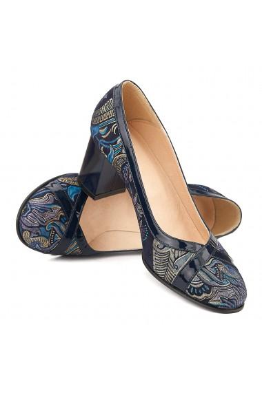 Pantofi cu toc din Piele Naturala Model 4039
