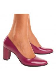 Pantofi cu toc din Piele Naturala mov 4022